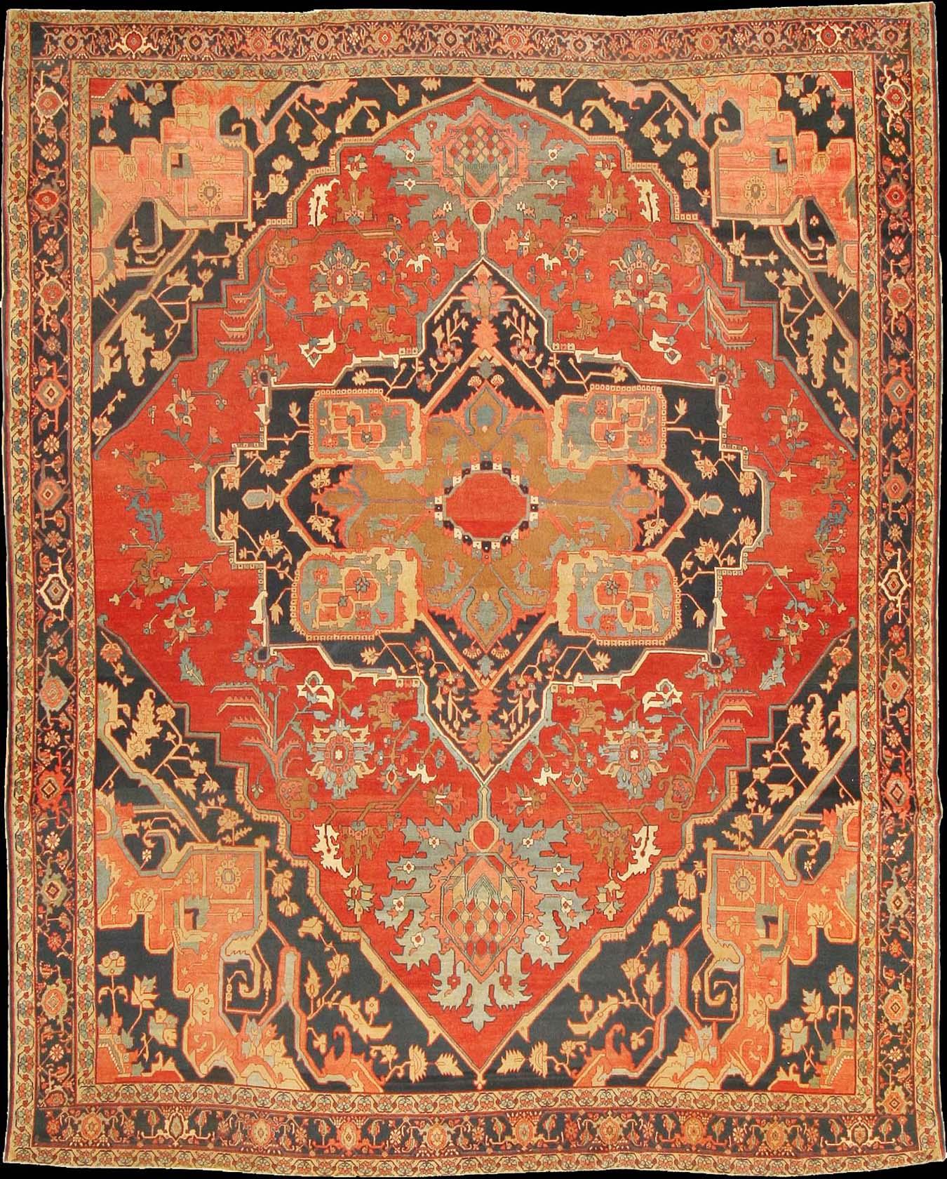 Persian Heriz Serapi Rug, c. 1900 Tappeti persiani