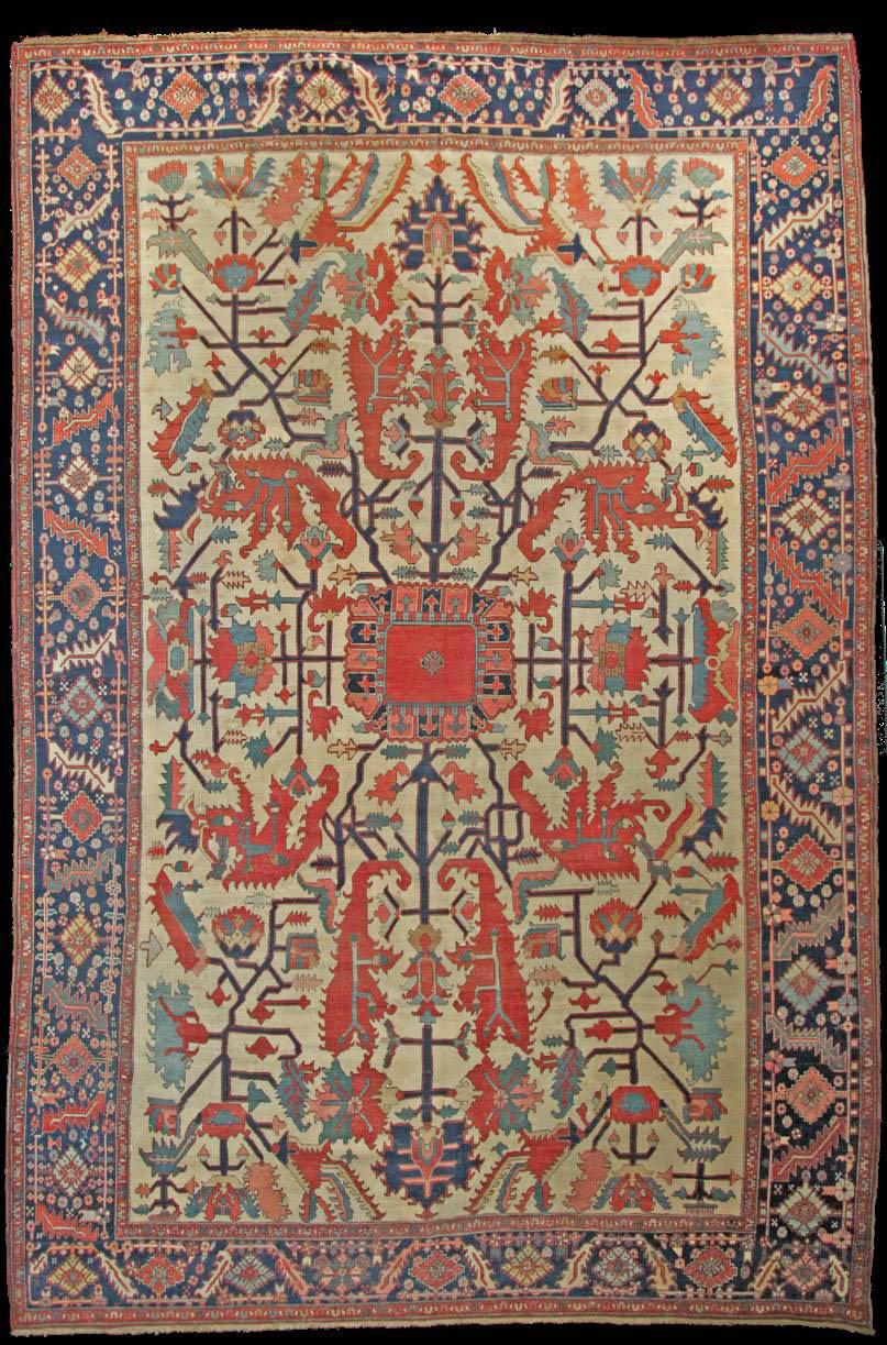 Antique Serapi Rug Azerbaijan Nw Iran Circa 1870 1880