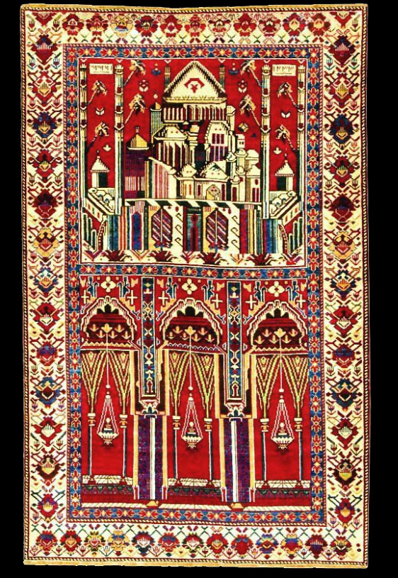 Antique Shirvan Marasali Prayer Rug