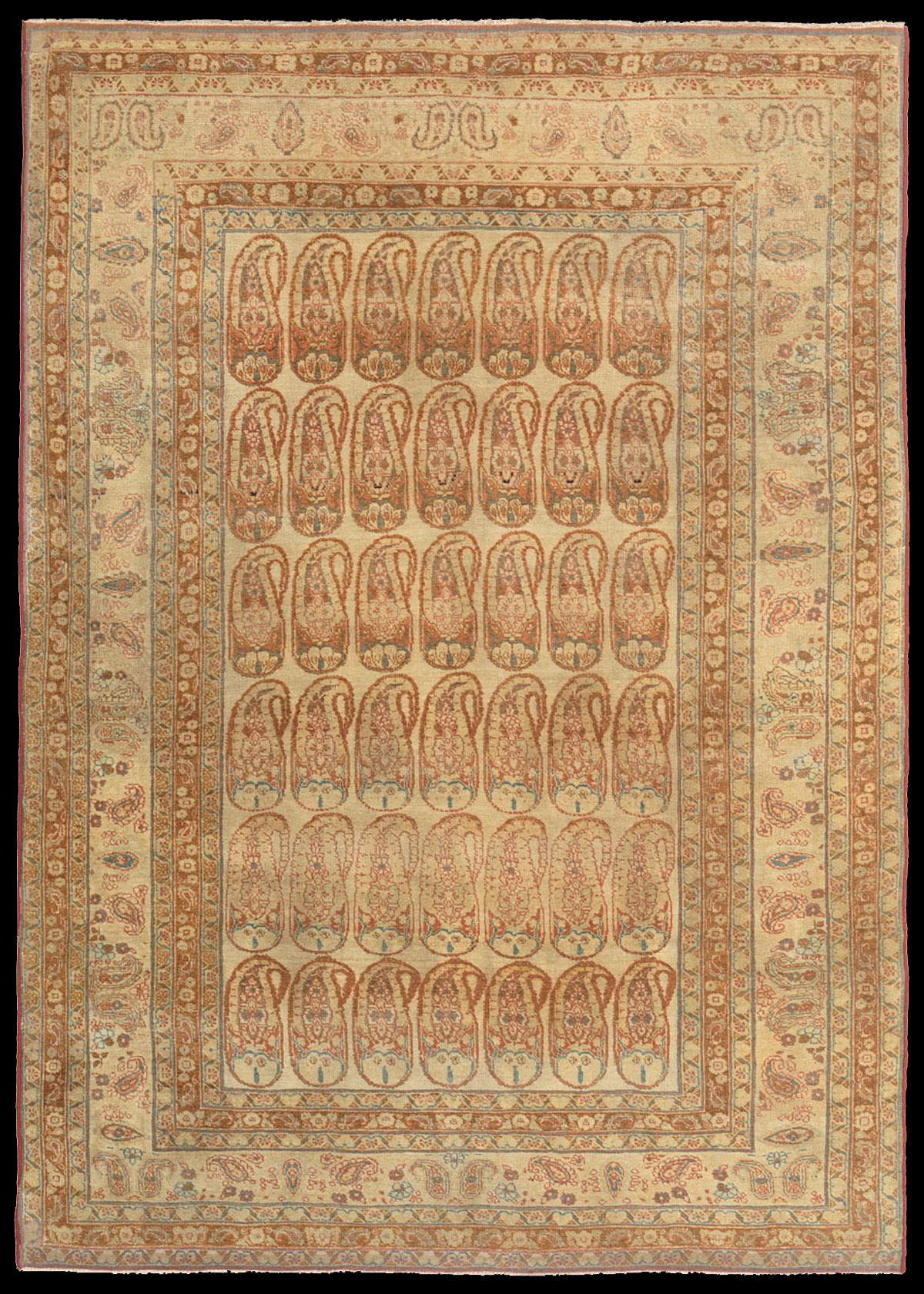 Antique tabriz hadji jalili rug with the boteh motif for The rug company rugs