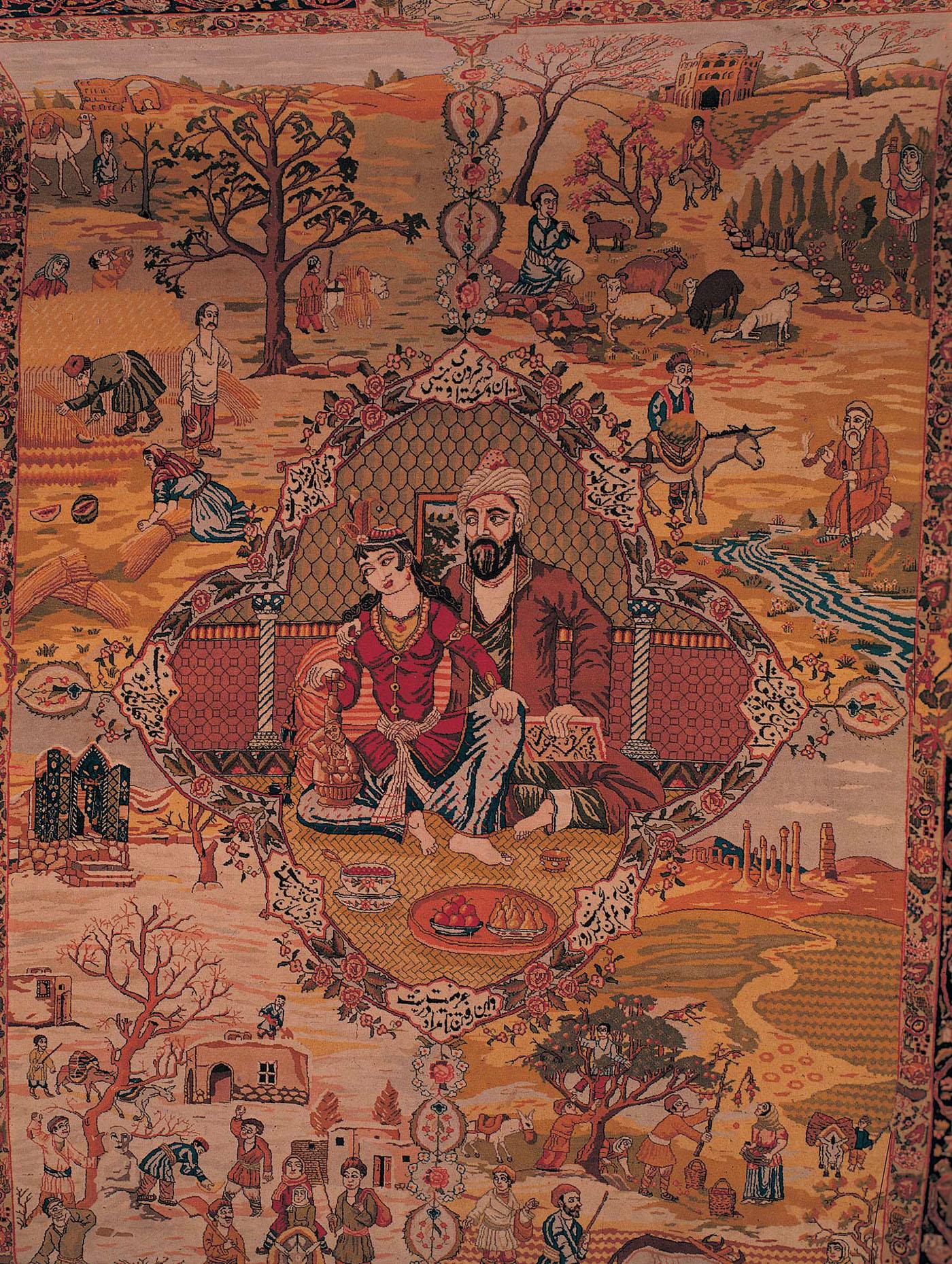 Antique Tabriz Pictorial Carpet Quot Four Seasons