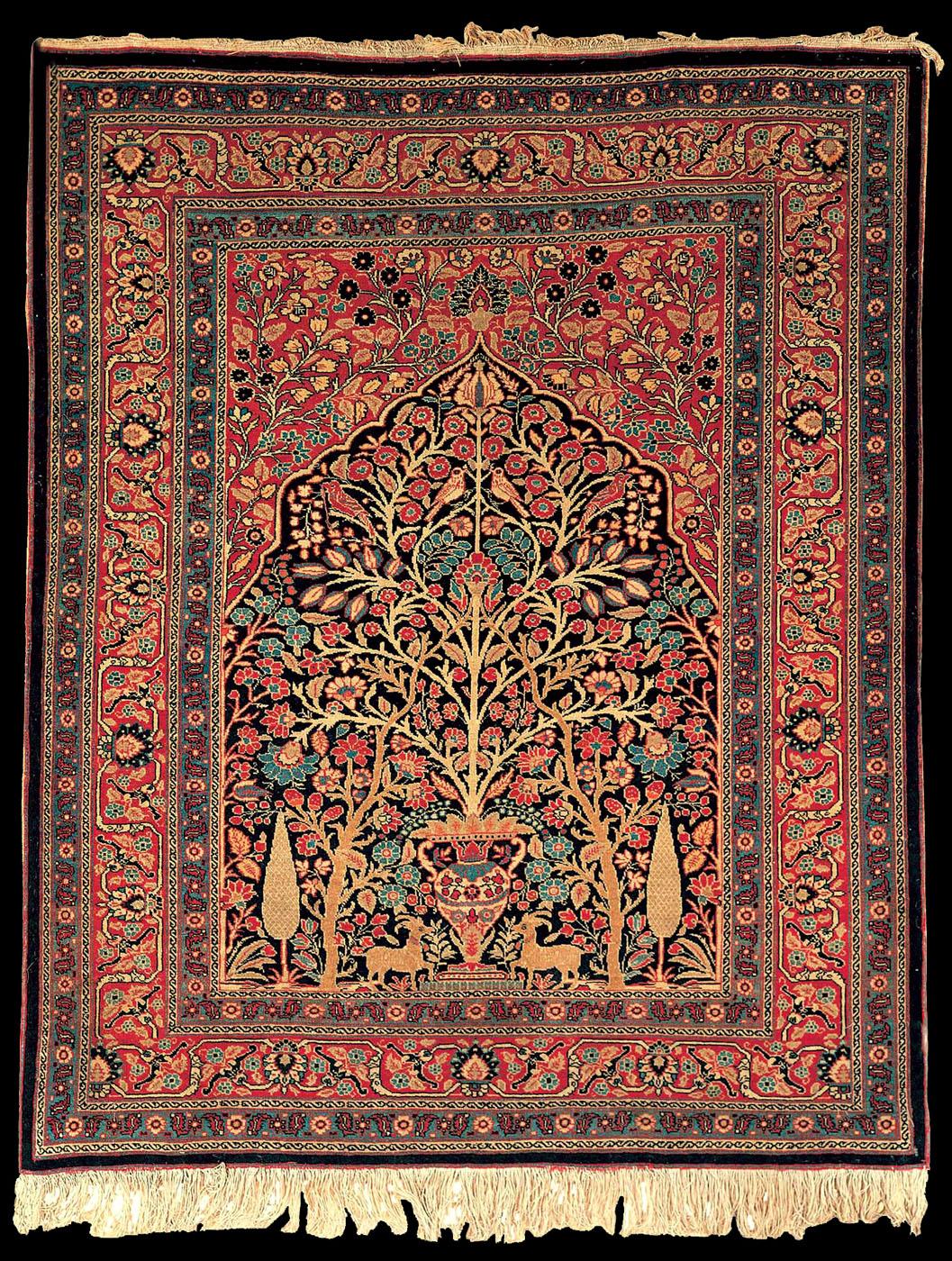 tabriz and carpet Lot: tabriz 'amirkhiz' carpet (signed),, lot number: 7134, starting bid: €100, auctioneer: henry's auktionshaus ag, auction: rugs.
