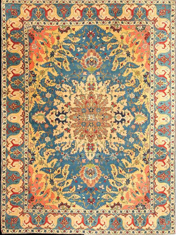 Antique Tabriz Benlian Rug Azerbaijan Nw Iran Early