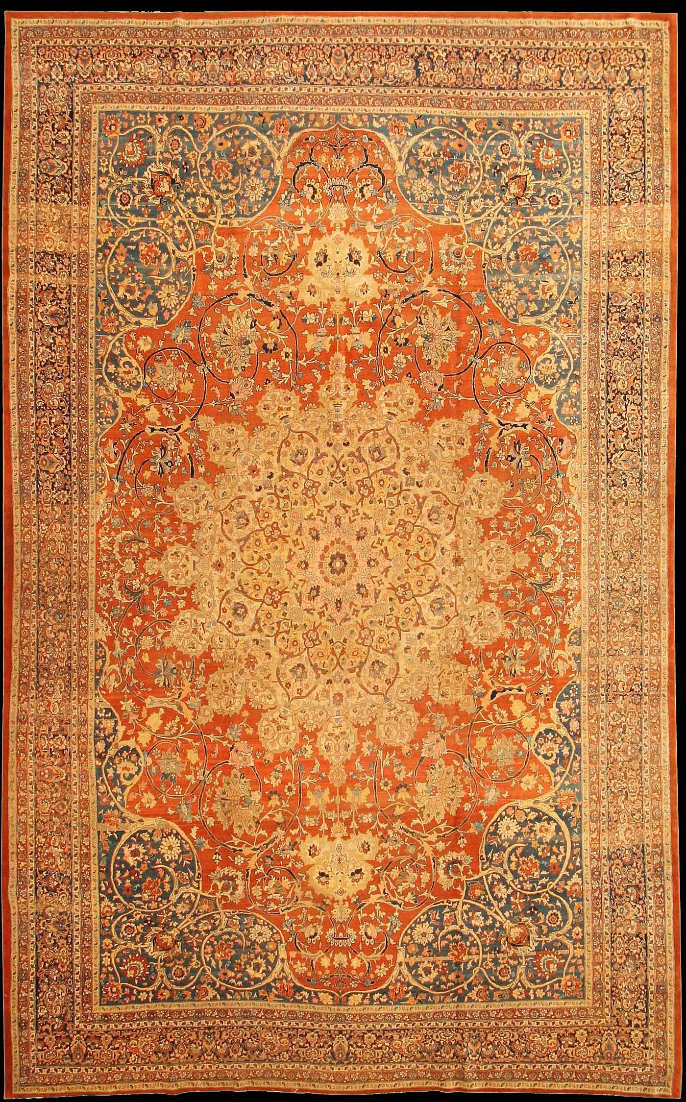 A Large Antique Tabriz Carpet