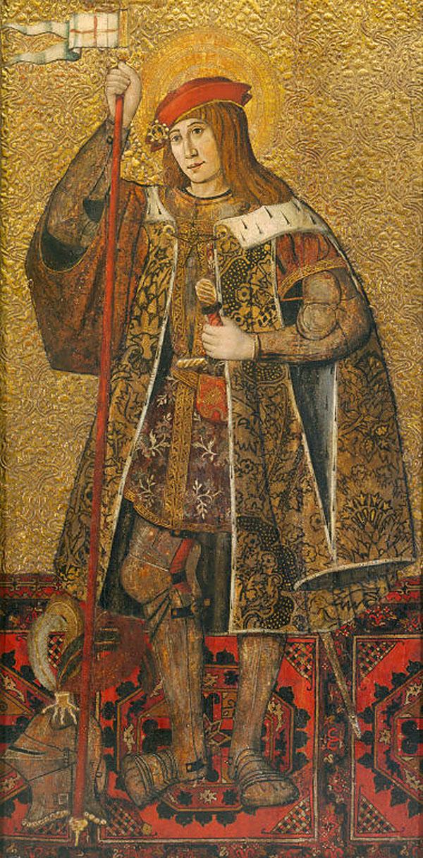 Warrior Saint 1490 1500 Spanish Catalan The Art