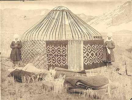 Historical Photographs Gt Gt Kirgiz Yurt With Reed Screen