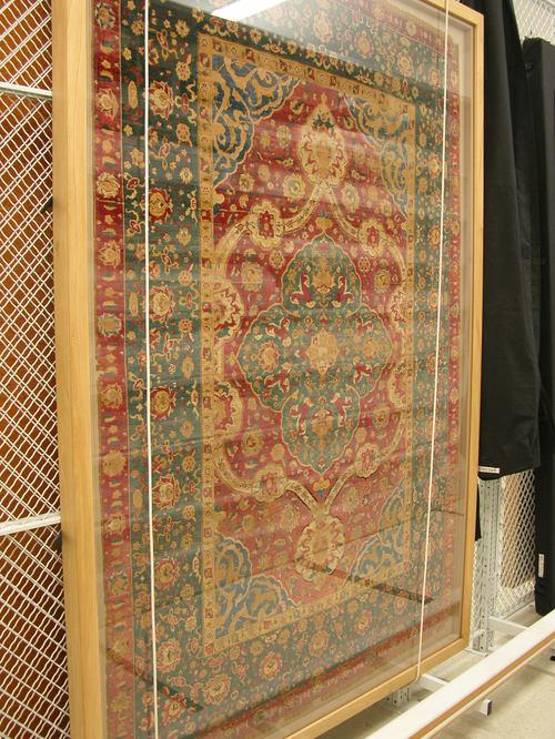 Safavid Silk Carpet 16th Century Probably Kashan Iran